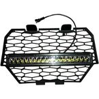 Grill Insert w/16 in. LED Light Bar - BL-RZRLEDGRL