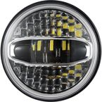 Chrome Ultra Beam LED 7 in. Headlight - HD7NWC