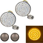 Amber Rear Bullet Style 1156 LED Turn Signals - HW307008