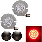Red Rear Flat Style 1156 LED Turn Signals - HW307007