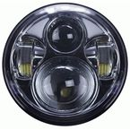 Silver 5.6 in. 8-LED Round Headlight w/ Partial Halo - BC-561S