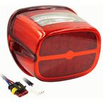 OE Style LED Replacement Taillight w/Red Lens - BC-HDTL7