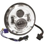 Chrome 7 in. LED Headlight - 11004