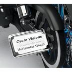 Chrome Horizontal In-Close Slick Signal License Plate Frame and Holder - CV4606SH