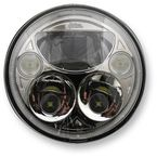 Chrome 5.75 in. Round Headlamp - CDTB-575-C
