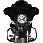 Gloss Black 7 in. LED Halo Headlight Trim Ring - CDTB-7TR-1B