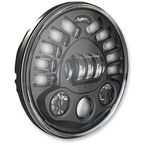 Black 7 in. LED Adaptive Headlight - Pedestal Mount - 0552451