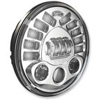 Chrome Model 8791 7 in. Pedestal Mount LED Headlight - 0553451
