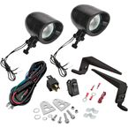 Black Halogen Mini Driving Light Kit - 30-102BK