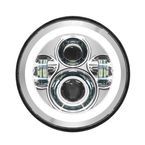 Chrome 7 in. Halomaker LED Headlight Kit - HW167004