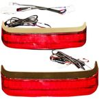 HD Bagz Chrome Saddlebag Lights w/Red Lens for H-D OE Saddlebags - CD-SB-HD-CR