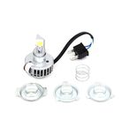 White LED H4 Headlight Bulb - 33-1736