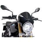 Dark Smoke Retrovision Windscreen w/Black Housing - 7012F