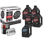 Complete Synthetic Oil Change Kit in a Box w/Chrome Filter - 90-119015C