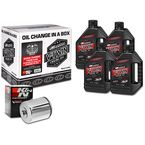 Quick Change Synthetic Oil Change Kit in a Box w/Chrome Filter - 90-119014C