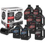 Complete M-Eight Synthetic Oil Change Kit in a Box w/Black Filter - 90-129018B