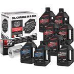 Complete M-Eight Synthetic Oil Change Kit in a Box w/Chrome Filter - 90-129018C
