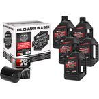 M-Eight Quick Change Synthetic Oil Change Kit w/Black Filter - 90-129015B