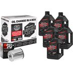M-Eight Quick Change Synthetic Oil Change Kit w/Chrome  Filter - 90-129015C