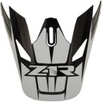 Black/White Replacement Visor for Rise Ascend - 0132-1245