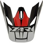 Red Replacement Visor for Rise Ascend - 0132-1247