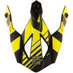 Matte Yellow/Black Visor for TX319 Raider Helmets - 511128#