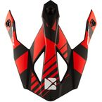 Matte Red/Black Visor for TX319 Raider Helmets - 511138#