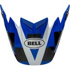 Blue/White/Black Visor for Moto-9 Flex Fasthouse Day In The Dirt 20 Helmet - 7116075
