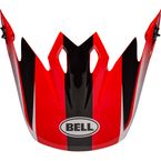 Black/Red/White Visor for MX-9 MIPS Dash Helmets - 7111396
