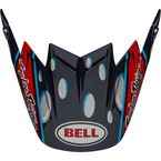 Blue/Red/Black/White Visor for Moto-9 Flex TLD McGrath Replica 21 Helmets - 7124991