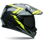 Black/Hi-Vis Yellow MX-9 Adventure Barricade Helmet - 7061349