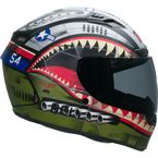 Matte Green/Red/Blue Qualifier DLX Mips Devil May Care Helmet - 7102517