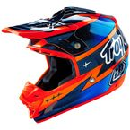 Orange/Navy Blue SE3 Team Helmet - 109005704