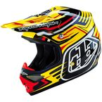 Yellow/Black/Red Scratch Air Helmet - 117010502