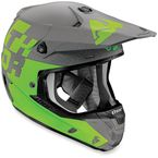 Gray/Green Verge Tach Helmet - 0110-4322