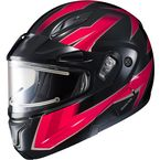 Black/Red/Gray CL-Max 2 Ridge Helmet w/Electric Shield - 189-913