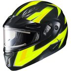 Hi-Viz Neon Green/Black CL-Max 2 Ridge Helmet w/Electric Shield - 1245-1313-06