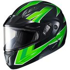 Green/Black CL-Max 2 Ridge Helmet w/Electric Shield - 1245-1304-08
