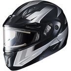 Black/Gray/White CL-Max 2 Ridge Helmet w/Electric Shield - 59-24556
