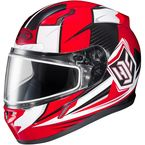 Red/White/Black CL-17SN MC-1 Striker Helmet w/Frameless Dual Lens Shield - 57-19316
