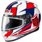 Red/White/Blue CL-17SN MC-1H Striker Helmet w/Frameless Dual Lens Shield - 835-704