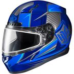 Blue/Black CL-17SN MC-2 Striker Helmet w/Frameless Dual Lens Shield - 835-925