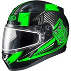 Black/Green/Gray CL-17SN MC-4 Striker Helmet w/Frameless Dual Lens Shield - 1151-1504-06