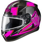 Black/Neon Pink/Gray CL-17SN MC-8 Striker Helmet w/Frameless Dual Lens Shield - 1151-1508-06