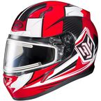 Red/White/Black CL-17SN MC-1 Striker Helmet w/Frameless Electric Shield - 57-29311