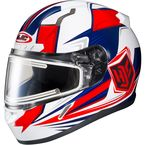 Red/White/Blue CL-17SN MC-1H Striker Helmet w/Frameless Electric Shield - 57-29321