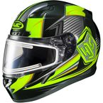 Black/Hi-Viz Green/Gray CL-17SN MC-3H Striker Helmet w/Frameless Electric Shield - 135-933
