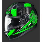 Black/Green/Gray CL-17SN MC-4 Striker Helmet w/Frameless Electric Shield - 1251-1504-08