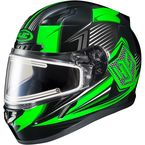 Black/Green/Gray CL-17SN MC-4 Striker Helmet w/Frameless Electric Shield - 135-946