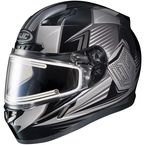 Black/Gray CL-17SN MC-5 Striker Helmet w/Frameless Electric Shield - 57-29376